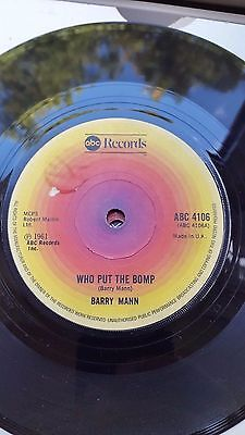 Barry Mann  Abc Repro Label 45 Who Put The Bomp