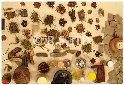 100 + MAGICAL BLENDED HERBS Wicca Pagan Altar Incense Spells Vial Witchcraft 40g
