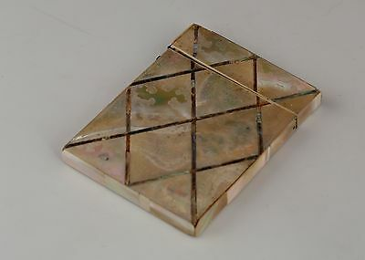 Mother of pearl /abalone shell carve design Victorian card case for restoration