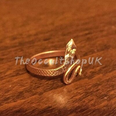 3 x Copper Snake Ring Adjustable Chakra Yoga Naga Puja Karma Celtic Gothic Wicca