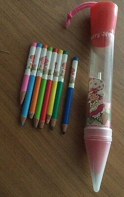 Vintage Strawberry Shortcake Jumbo Pen and Crayons *Complete* *EXTREMELY RARE*