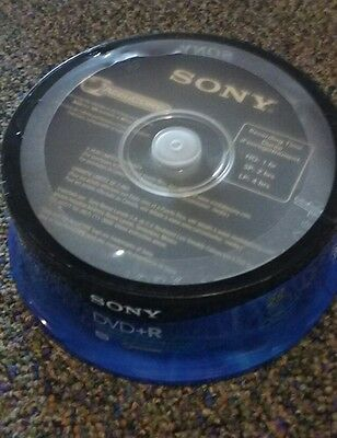 Sony DVD+R 25 pack 120 min 4.7 GB/Go DVD recordable blank 25DPR47RS4 NEW discs