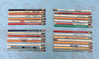 Thirty (30) Assorted Vintage, Advertising, & Miscellaneous Pencils