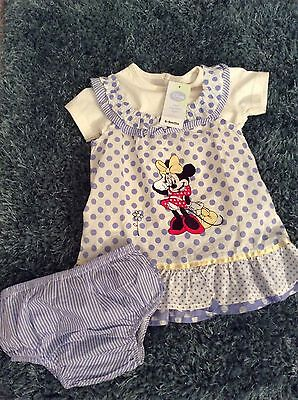 disney minnie mouse dress outfit baby girl 6-9 months
