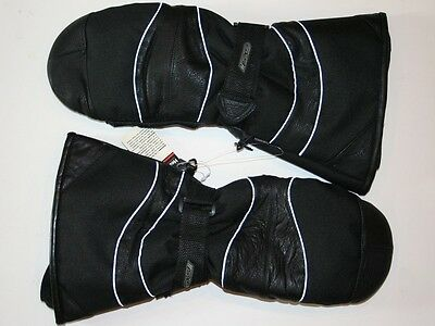 GKS Mens X-Large Snowmobile Leather and Nylon Mittens Gloves NWT