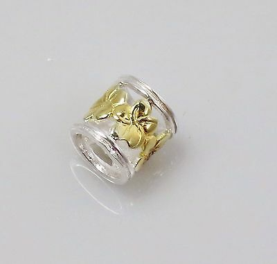 18 K Gold Plated and 925 Sterling Silver Flower Charm Bead