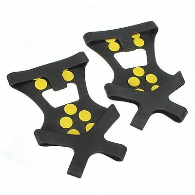Anti slip Snow and Ice Shoe Grips Cleats Spikes Studded Grippers Hiking Camping