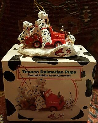 Texaco Dalmatian Pups - Limited Edition Resin Ornament - Exc Condition, Boxed