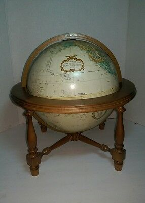 "Beautiful REPLOGLE 12"" Globe World Classic Series Leroy M.Tolman & wood Base"