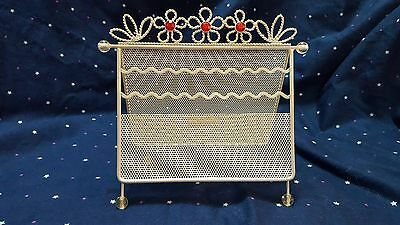 White Stand-Up Earring Necklace Holder Organizer Storage Rack