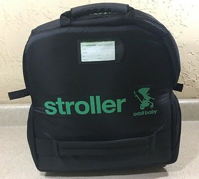 Orbit Baby Stroller Collapsible Travel Gate Check Bag With Wheels Black