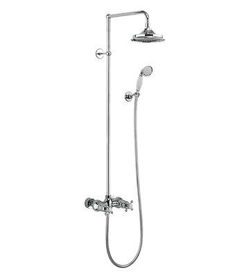 "Burlington Eden Thermostatic Dual Outlet Exposed Shower Set 6"" AirBurst BEF2S6"