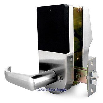 Electronic Digit Code Keyless Keypad Entry Door Lock With ID Reader Right Handle