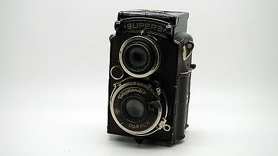 Voigtlander Superb TLR Camera Skopar F/3.5 75mm Lens