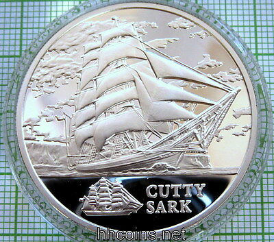 Belarus 2011 20 Roubles Sailing Ship Cutty Sark Silver Proof Coin In Capsule Coa
