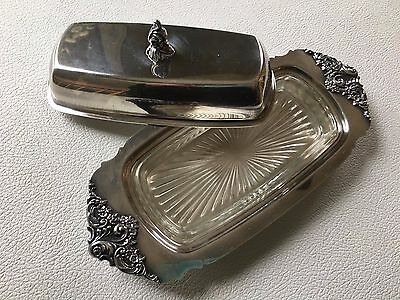 Vintage/Antique Silverplate butter dish with glass insert
