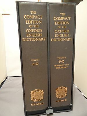 The Compact Edition Of The Oxford English Dictionary: