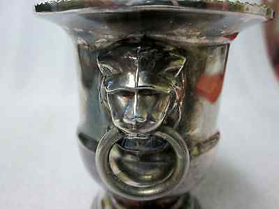 VINERS OF SHEFFIELD ANTIQUEvSILVERPLATED LIONS' HEAD CANDLE / TOOTHPICK HOLDER!