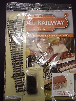 Your Model Railway Village Magazine No 27 right hand points & track pins