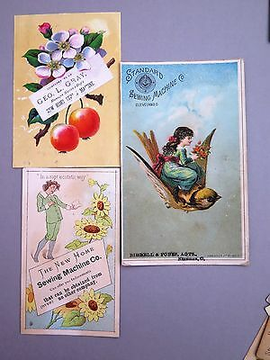 THE NEW HOME & STANDARD SEWING MACHINE CO &  Victorian Trade Card Lot of 3