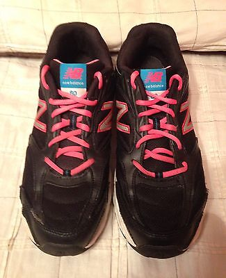 Women's New Balance 80 Abzorb Size 11 Athletic Running Shoe Black Pink