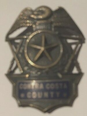 Extremely Rare Contra Costa County Hat Badge