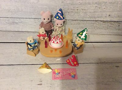 Sylvanian Families Pig Family with Birthday Party Set