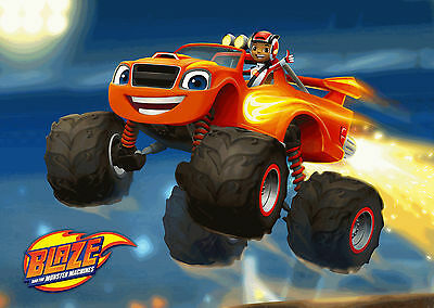 Unofficial BLAZE AND THE MONSTER MACHINES (1) *A3* print Poster - Peppa