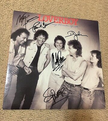 Loverboy - Lovin' Every Minute Of It Vinyl Lp Record *autographed*