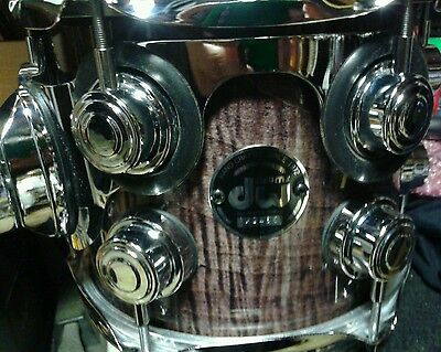 """DW Drum Workshop 8"""" tom barely used, orig. heads CLEAN lacquer finish w/SKB Case"""