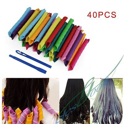 18-40pcs 18-55cm Convenient DIY Hair Styling Circle Rollers Perm Curler Tool Set