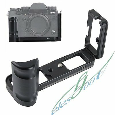 Metal L-Shaped Quick Release Plate Bracket Base Holder For FUJIFILM X-T2