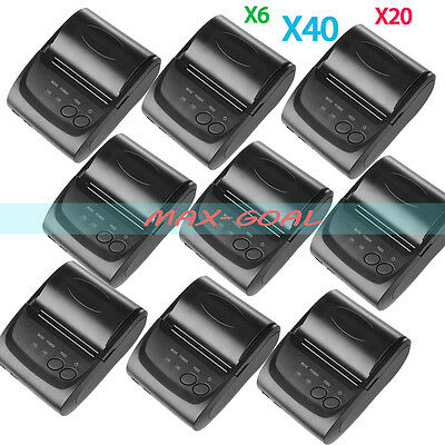 58mm Wireless Bluetooth USB Thermal Receipt Printer Line Mobile POS LOT MAX