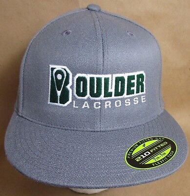 "Boulder Lacrosse Colorado Hat Cap Fitted 7 1/4"">7 5/8""  USA Embroidery New"