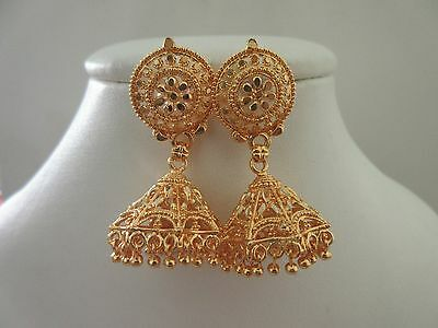 Indian Bollywood Ethnic Women Gold Plated Fashion Jewelry Earrings Jhumka Jhumki