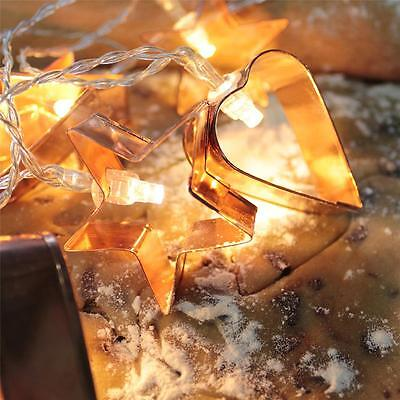 NEW Cookie Cutter LED String Lights - Power operated