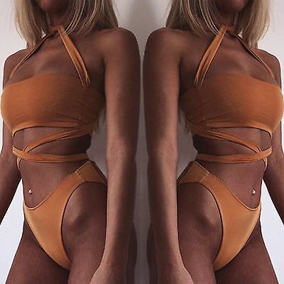 New Women Bikini Set Bandage Push Up Padded Swimwear Swimsuit Bathing Beachwear