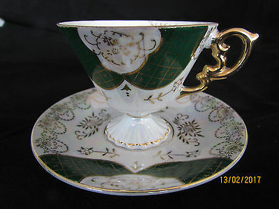 Japanese Lustre Ware J.A.C. bone china teacup and saucer