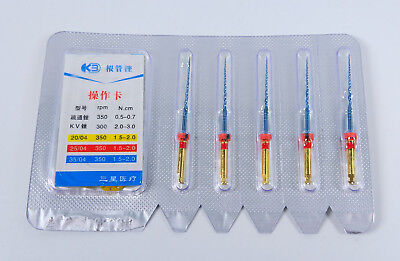 Endodontic K3 NiTi Rotary Files Thermal Activated Endo Root 25mm Dental 5Pcs