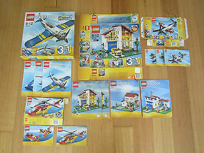 Lego Creator Boxes and Assembly Instructions - House/Aircraft themes