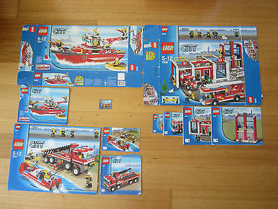 Lego Boxes and Assembly Instructions - Fire Services theme