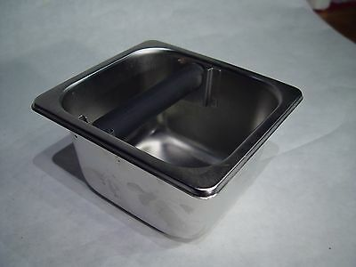 """Coffee Knock Box Unused Stainless Steel surface mount 7""""x6.5""""x4"""" One only"""