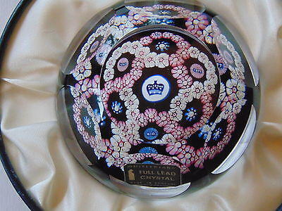 Vintage 1977 Whitefriars Silver Jubilee Limited Edition Millefiore Paperweight