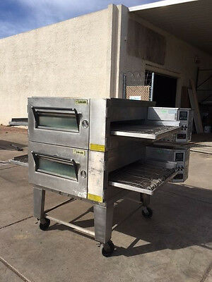 Lincoln 1600 Doublestack Gas Conveyor Pizza Ovens (Refurbished) Warranty Avail.
