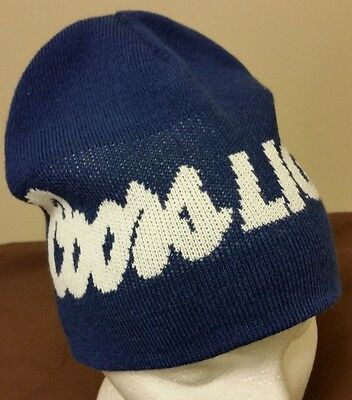 Coors Light Beer Beanie Style Toque Hat Brewery