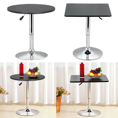 New MDF Adjustable Height Round Square Bar Table Kitchen Cafe Bar Indoor Outdoor