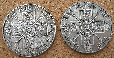 1888 and 1889 Double Florin