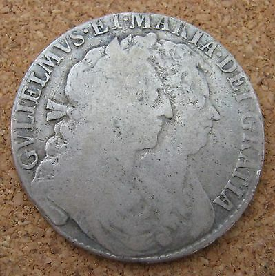 William and Mary 1689 1/2 Half Crown
