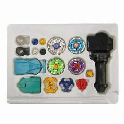 Metal Master Fusion Top Rapidity Fight Rare Beyblade 4D Launcher Grip Set LOT 1.