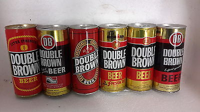 6 Different Double Brown 460ml Steel Beer Cans from New Zealand